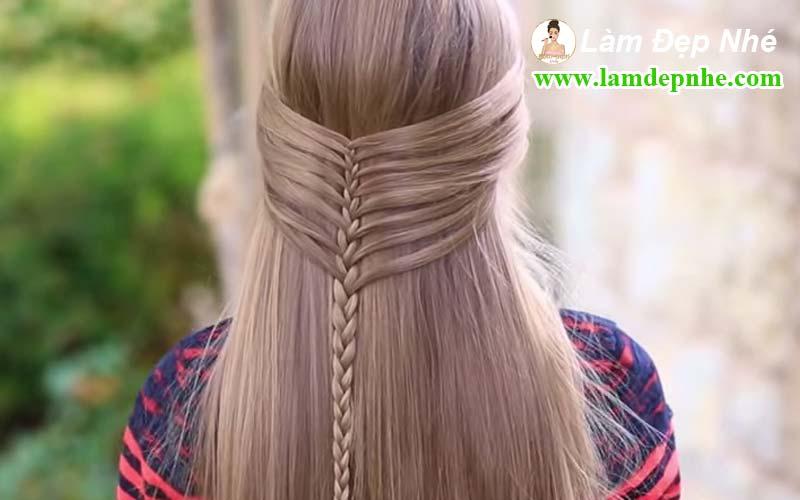 Cách tết tóc xương cá dễ thương cho bạn gái