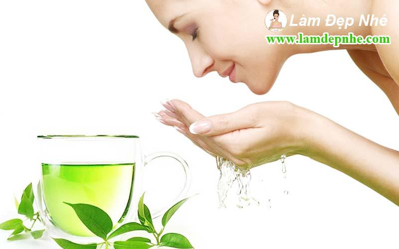 Những lợi ích từ việc rửa mặt bằng nước trà xanh